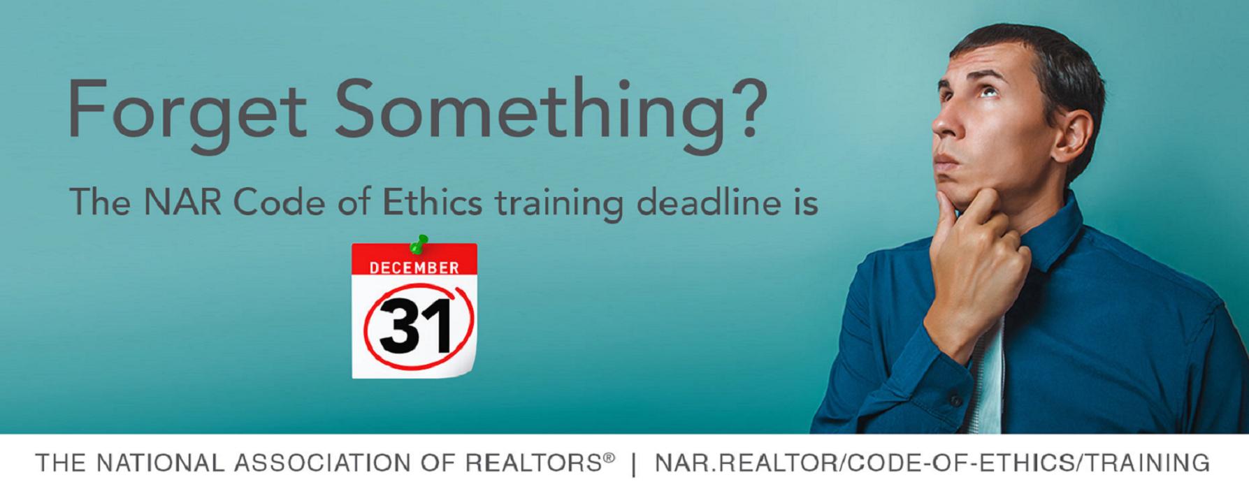 Ethics Training Deadline